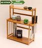 Bamboo Storage Shelf Rack Holder Organizer Kitchen Bathroom Cabinet Stand