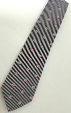 """Paul Smith FLORAL TIE """"MAINLINE"""" FLORAL & STRIPE 100% Silk 9cm Tie Made in Italy"""