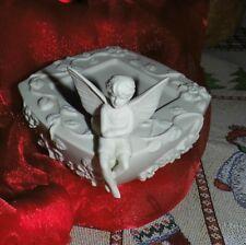 Partylite Kerzenhalter Märchenland aus Porzellan hier Einzelstück Fee Elfe Junge