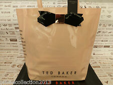 TED BAKER Ladies Handbag LARCON Icon Tote Bag LARGE Pvc Pink Bow Bags BNWT