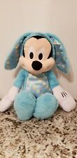 """Mickey Mouse 16"""" Easter Bunny Plush Stuffed Animal Doll Disney Just Play."""
