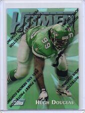 HUGH DOUGLAS Jets 1997 Topps Finest #109 Hitmen Uncommon / Silver Refractor Card