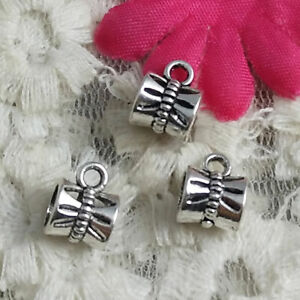 Free Ship 160 Pcs Antique Silver Nice Charms Bails 10X7MM H-1395