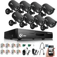 XVIM 8CH HDMI CCTV Surveillance DVR 720P IR Outdoor Home Security Camera System