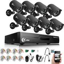 XVIM 8CH HDMI CCTV Surveillance DVR 720P IR Outdoor Home Security Camera System