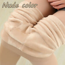 Women Thermal Thick Warm Fleece Lined Winter Tight Pencil Leggings Pants Nude Color