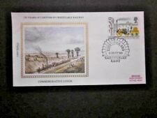 1980 BENHAM SILK COVER FOR 150 YEARS OF THE CANTERBURY/WHITSTABLE RAILWAY