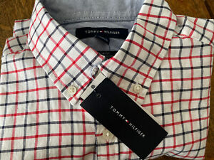 Tommy Hilfiger SS Button Down Red White Blue - Small NEW