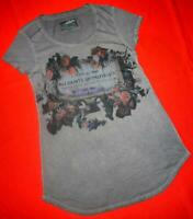 """ALL SAINTS """"FLORAL BRAND TEE"""" T-SHIRT TOP - SIZE UK 6 8 10 (US 2 4 6)"""
