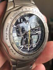 Homme Citizen Eco Drive Skyhawk titanium watch C650-002497 terrain