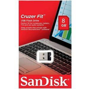 Clé USB 8 Go Gb SANDISK référence Cruzer Fit - Existe aussi en 16 32 64 Gb Giga
