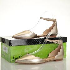 Sam Edelman Rowan Gold Leather Flat Sandals - Size 7 M