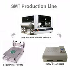 SMT Line Pick and Place Machine NeoDen4 25 Feeders+Solder Printer+Reflow Oven