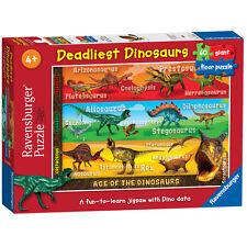 Deadliest Dinosaurs Giant Floor Puzzle 60 Piece Ravensburger Jigsaw
