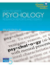 How to Write Psychology Research Reports and Essays by Bruce M. Findlay