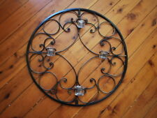 Iron French Style Candle Sconce Wall Art  4 Cups 60cm