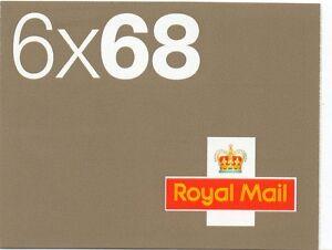 2002 6 x 68 self adhesive booklet sg NB1 cat £38