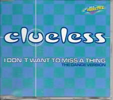 CLUELESS - I don't want to miss a thing CDM 5TR Eurodance Freestyle 1998 ZYX