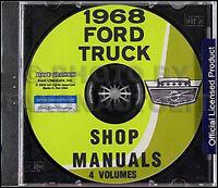 1968 Ford Truck Shop Manual Set on CD Pickup F100 F250 F350-F1000 Repair Service