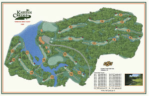 Karsten Creek  1990 Tom Fazio - a VintageGolfCourseMap