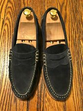 97d7af71da9 EUC  300 Allen Edmonds Navy Sea Island Suede Dress Loafers Shoes Size 11 D M