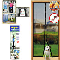 Magic Mesh Door Magnetic Screen Instant Mesh Guard Velcro Anti Mosquito Bug Fly