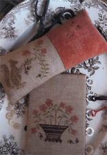 Squirrel Pinkeep & Flower Basket Stacy Nash Primitives Cross Stitch Pattern