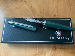 Sheaffer Taranis 9446 Forest Green Fountain Pen RRP £99 Broad(New) Free UK Post