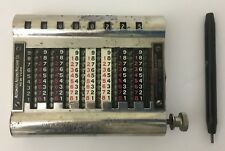 Vintage Adding Machine and Stylus Model 16 Patent Mar 1-04~Mar 27-06~Mar 19-07
