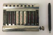 Vintage Adding Machine and Stylus Model 16 Patent Mar 1-04~Mar 27-06~Mar 19-07
