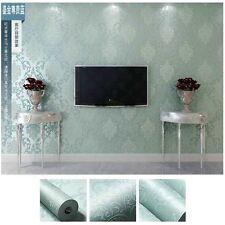 Prepasted Peel & stick Self-Adhesive Wallpaper Damask Flocking 3D Wallcover Glue