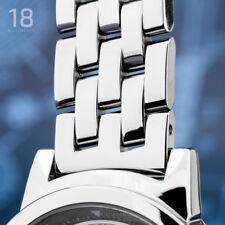 EDELSTAHL UHRARMBAND POLJOT massiv 18 mm - 5 Knoten - poliert - Anstoß gerade