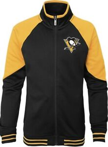 NHL Pittsburgh Penguins Youth Girls Faceoff Full Zip Jacket, L (14)