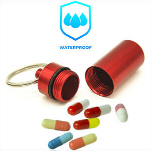 Outdoor Waterproof Pill Holder Carrier Medicine Box Case Camping Drug Container