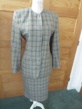 AUSTIN REED CHECK SUIT  - SIZE 8