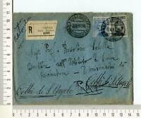 21881) ITALIA 1871/1916 Storia Postale lotto di 5 buste (vedi scans)