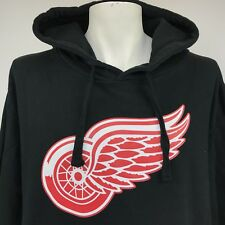Fanatics Mens Hoodie Sweatshirt NHL Detroit Red Wings Black 2XL
