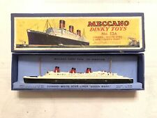 Meccano Dinky Toys Ship - No. 52A - Cunard White Star Liner Queen Mary In Box