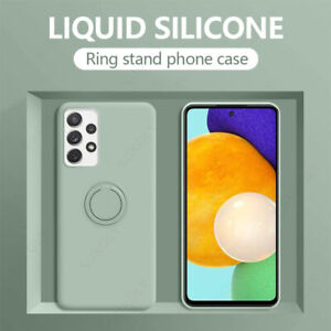For Samsung Galaxy S21 S20 FE Ultra Magnetic Ring Holder Liquid Soft Case Cover