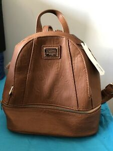 Collette Backpack BROWN with GOLD zippers