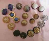 Lot of 10 Retro Vintage Medium Size Wearable Clip On Back Earrings P203