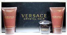 3 Pcs Versace Crystal Noir Mini Set 0.17oz/5ml Edt Splash For Women New In Box