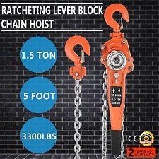 Brand New 1500kg 1.5T 1.5M Lever hoist  Comealong  chain Lever Block HQ