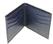 NOS Raymond Weil Geneve Navy Blue Leather 6 Credit Card Holder Wallet Billfold