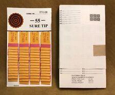 1 Dozen 55 SURE TIP BOARDS, Raffle Tickets, Jar Tickets, All Tips, Football