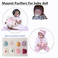 8 pcs Reborn Doll Supplies Magnet Pacifier Reborns Baby Dolls Accessories Dummy