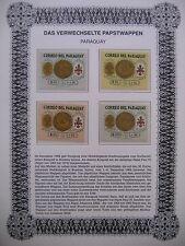 Irrtümer auf Briefmarken / Paraguay 1964 Mi 1372 - 75 : verwechselte Papstwappen