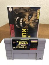 Snes Super Nintendo The Hulk In Plastic Case