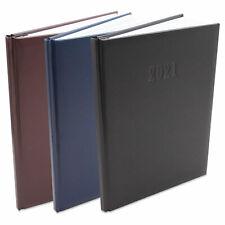 Chefplaner 2021 ca. A4 groß Buchkalender Lederoptik Terminplaner Kalender Timer