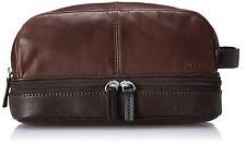 Fossil Multi Zip Travel Kit, Dark Brown, One Size